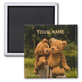 Teddy 01 square magnet