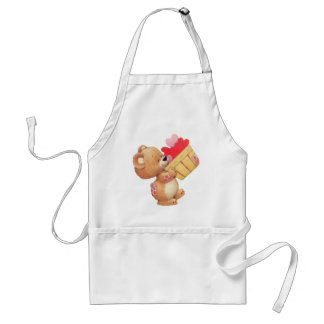 Teddy And A Basket Of Hearts Standard Apron