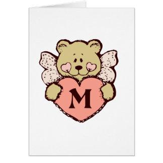 Teddy Angel M Greeting Card