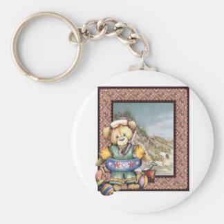 Teddy Beach Key Chain