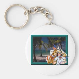 Teddy Beach Keychain