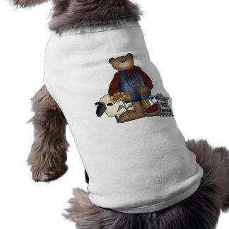 Teddy Bear 1st Birthday Sleeveless Dog Shirt