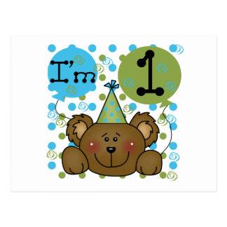 Teddy Bear 1st Birthday Tshirts and Gifts Postcard