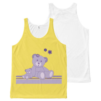 TEDDY BEAR-3 All-Over PRINT TANK TOP