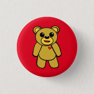 Teddy Bear 3 Cm Round Badge