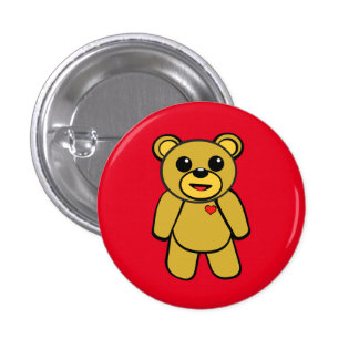 Teddy Bear 3 Cm Round Badge