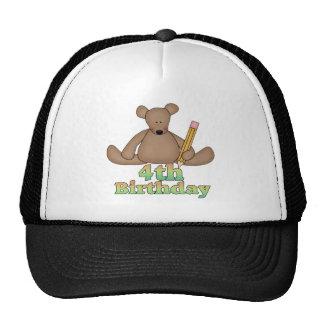 Teddy Bear 4th Birthday Gifts Cap