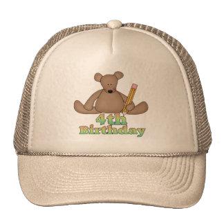 Teddy Bear 4th Birthday Gifts Trucker Hat