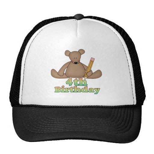 Teddy Bear 4th Birthday Gifts Hat