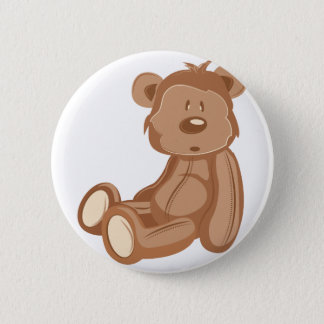 Teddy Bear 6 Cm Round Badge