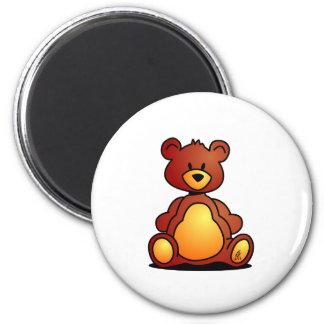 Teddy Bear 6 Cm Round Magnet