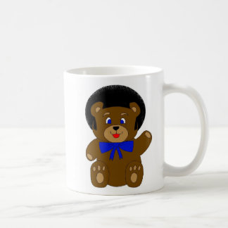 teddy bear afro double mug