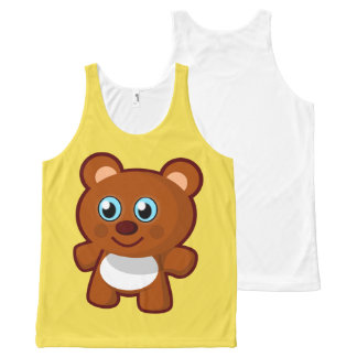 TEDDY BEAR All-Over PRINT TANK TOP