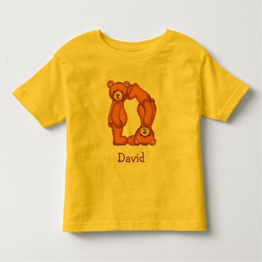 Teddy Bear Alphabet Letter~D~Initial Shirt~Custom Toddler T-Shirt