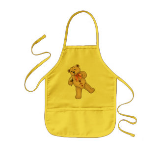 Teddy Bear and Bee Kids Apron