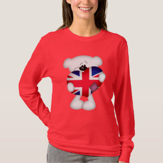 Teddy Bear and Big Union Jack Heart T-Shirt