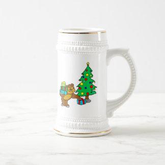 Teddy Bear and Christmas Tree Mugs