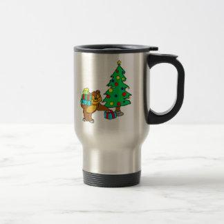 Teddy Bear and Christmas Tree Mug