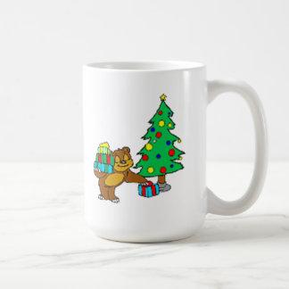 Teddy Bear and Christmas Tree Coffee Mug