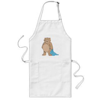 Teddy Bear and His Blanket Long Apron