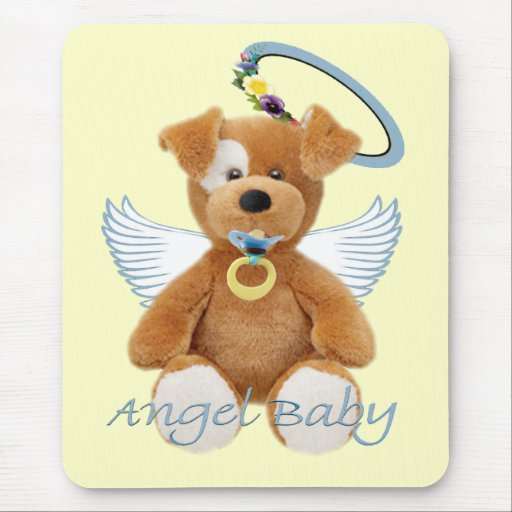 Angel Baby Gifts Uk : Teddy bear angel baby gifts mouse pad zazzle