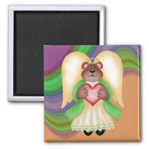 Teddy Bear Angel Love Fridge Magnets