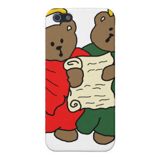 Teddy Bear Angels in Red and Green Choir Robes iPhone 5 Covers