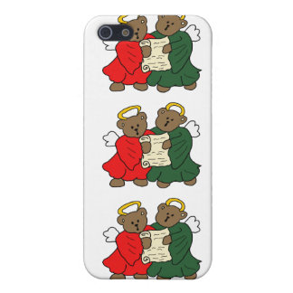 Teddy Bear Angels in Red and Green Choir Robes Covers For iPhone 5