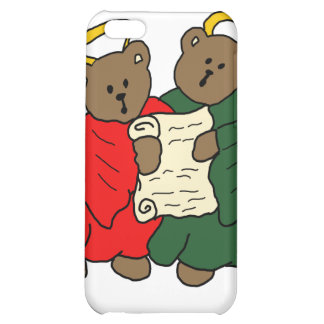 Teddy Bear Angels in Red and Green Choir Robes iPhone 5C Covers