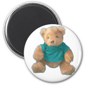 Teddy Bear - Arty 6 Cm Round Magnet