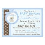 Teddy Bear Baby Boy Baby Shower Blue 13 Cm X 18 Cm Invitation Card