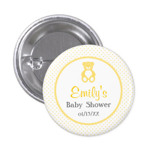 Teddy Bear Baby Shower Button - Unisex / Neutral