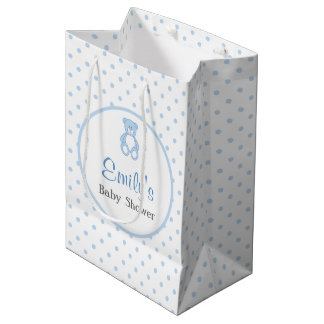 Teddy Bear Baby Shower Favour Bag - Boy