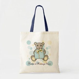 Teddy Bear Baby Shower or Kids Birthday Template Tote Bag