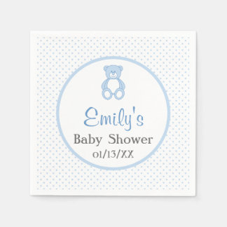 Teddy Bear Baby Shower Paper Napkins
