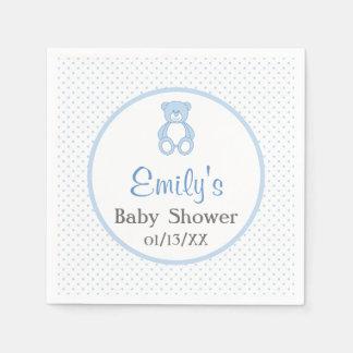 Teddy Bear Baby Shower Paper Napkins Disposable Serviette