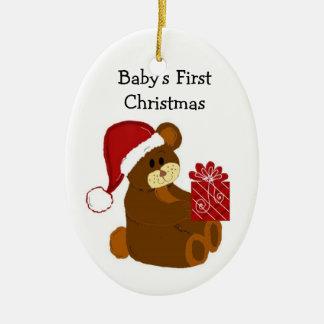 Teddy Bear Baby's First Christmas Christmas Ornament