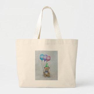 teddy bear canvas bag