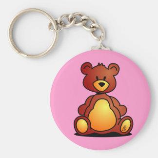 Teddy Bear Basic Round Button Key Ring