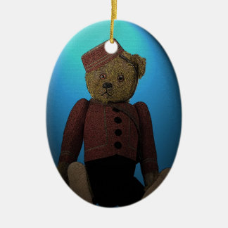 Teddy Bear Bell Hop Christmas Ornament