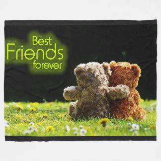 Teddy Bear Best Friends Fleece Blanket