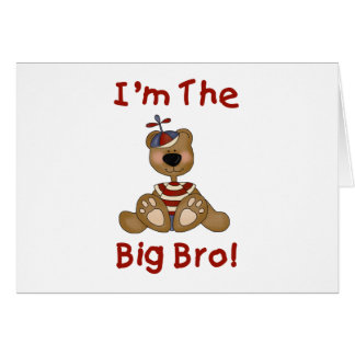Teddy Bear Big Bro Card