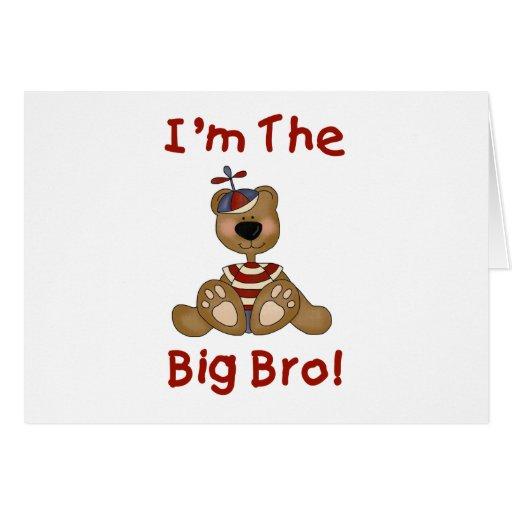 Teddy Bear Big Bro Greeting Cards