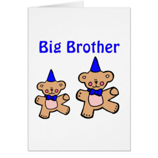 teddy bear big brother greeting card