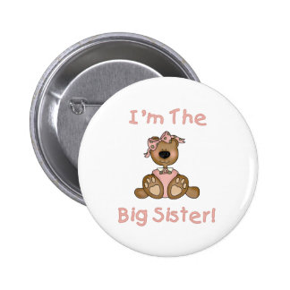 Teddy Bear Big Sister 6 Cm Round Badge