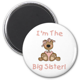 Teddy Bear Big Sister Tshirts and Gifts 6 Cm Round Magnet
