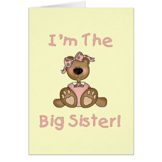 Teddy Bear Big Sister Tshirts and Gifts Greeting Card