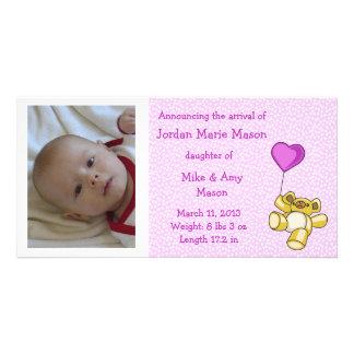 Teddy Bear Birth Announcement Photo Card