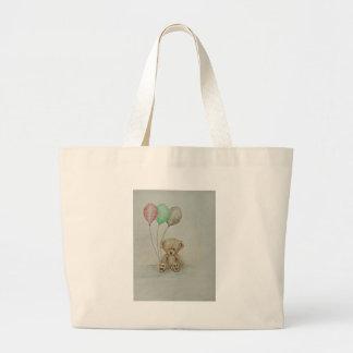 teddy bear birthday canvas bags