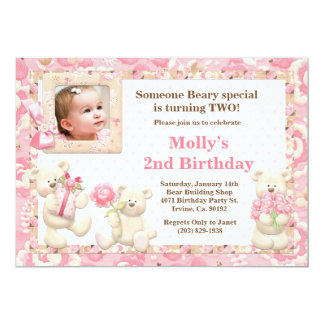 Teddy Bear Birthday Party Invitation